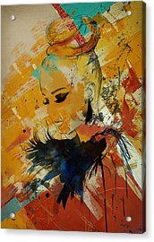 Abstract Women 010 Acrylic Print by Corporate Art Task Force
