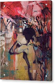 Abstract Women 017 Acrylic Print by Corporate Art Task Force