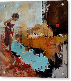 Abstract Women 019 Acrylic Print by Corporate Art Task Force