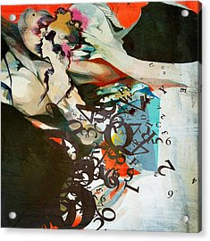 Abstract Women 025 Acrylic Print by Corporate Art Task Force