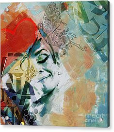 Abstract Women 8 Acrylic Print by Mahnoor Shah