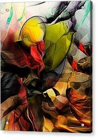 Abstraction 122614 Acrylic Print by David Lane