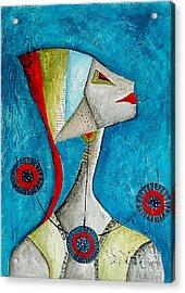 Abstraction 698 -marucii Acrylic Print by Marek Lutek