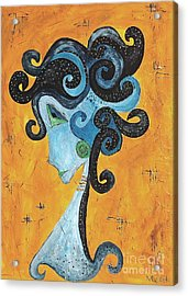 Abstraction 699 -marucii Acrylic Print by Marek Lutek