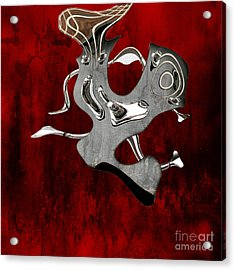 Abstrait En Si Mineur - S02t02 Acrylic Print by Variance Collections