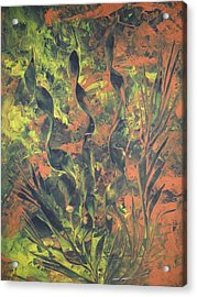 Acrylic Print featuring the painting Abstrakte Farben by Nico Bielow