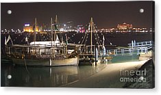 Acrylic Print featuring the photograph Abu Dhabi At Night by Andrea Anderegg