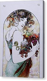 Abundance After Mucha Acrylic Print