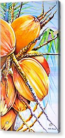 Acrylic Print featuring the painting Abundance by Julie  Hoyle