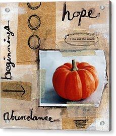 Abundance Acrylic Print by Linda Woods