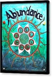 Abundance Money Magnet - Healing Art Acrylic Print by Absinthe Art By Michelle LeAnn Scott