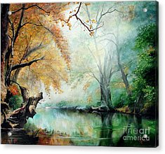 Acrylic Print featuring the painting Abyss by Sorin Apostolescu