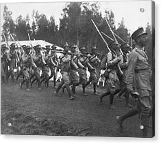 Abyssinian Troops Marching Acrylic Print by Underwood Archives