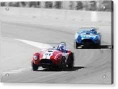 Ac Cobra Racing Monterey Watercolor Acrylic Print by Naxart Studio