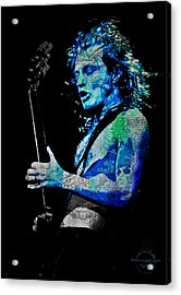 Ac/dc - Angus Young Acrylic Print by Absinthe Art By Michelle LeAnn Scott