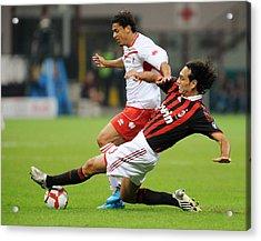 Ac Milan V As Bari - Serie A Acrylic Print by Massimo Cebrelli