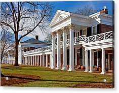 Academical Village At The University Of Virginia Acrylic Print by Melinda Fawver