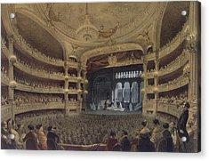 Academie Imperiale De Musique Paris Acrylic Print by Louis Jules Arnout