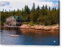 Acadia Fishing Village Acrylic Print