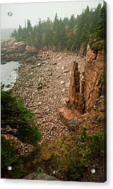 Acadia Fog At Monument Cove 4337 Acrylic Print by Brent L Ander