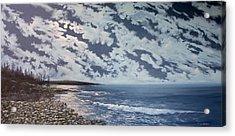 Acadia Moon Acrylic Print