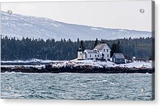 Acadia National Park Schoodic Lighthouse Acrylic Print