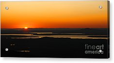 Acadia Sunset Acrylic Print by Olivier Le Queinec