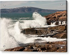 Acadia Waves 4198 Acrylic Print by Brent L Ander