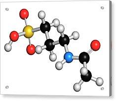 Acamprosate Alcoholism Treatment Drug Acrylic Print by Molekuul