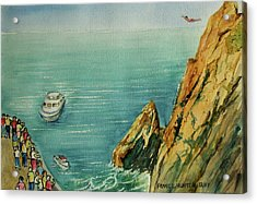 Acapulco Cliff Diver Acrylic Print by Frank Hunter
