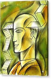 Accaunting  Acrylic Print by Leon Zernitsky