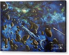 Accidental Asteroid Acrylic Print by Murphy Elliott