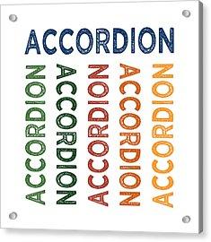Accordion Cute Colorful Acrylic Print