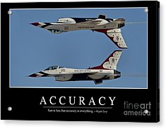 Accuracy Inspirational Quote Acrylic Print by Stocktrek Images
