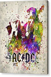 Acdc In Color Acrylic Print by Aged Pixel