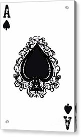Ace Of Spade Acrylic Print by Wingsdomain Art and Photography
