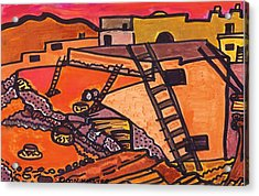 Acrylic Print featuring the drawing Acoma  by Don Koester