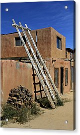 Acoma Pueblo Adobe Homes 3 Acrylic Print by Mike McGlothlen