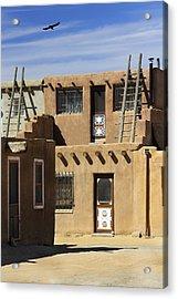 Acoma Pueblo Adobe Homes Acrylic Print by Mike McGlothlen