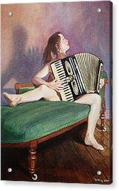 Acordeonista Acrylic Print by Jo King