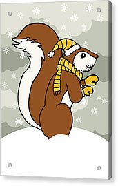 Acorn Winter Acrylic Print by Christy Beckwith