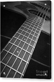 Acoustic Guitar Acrylic Print by Andrea Anderegg