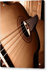 Acoustic Guitar Acrylic Print by Ester  Rogers