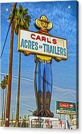 Acres Of Trailers 2 Acrylic Print by Gregory Dyer
