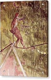 Acrobat On Tightrope Acrylic Print by Henri de Toulouse Lautrec