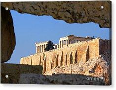 Acropolis Acrylic Print by Holger Ostwald