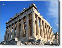 Acropolis Of Athnes Acrylic Print by Holger Ostwald