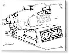 Acropolis Plan Acrylic Print by Granger