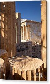 Acropolis Temple Acrylic Print by Brian Jannsen