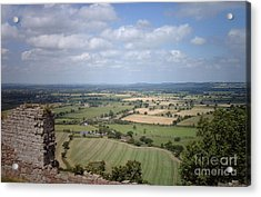 Across Cheshire From Beeston Castle England Acrylic Print